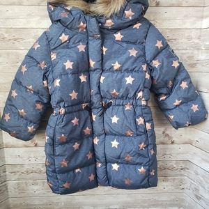 Blue Gap puffer Coat with Star Print